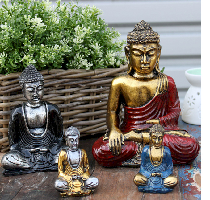 Buddhovia sošky-ručne maľované-Bali