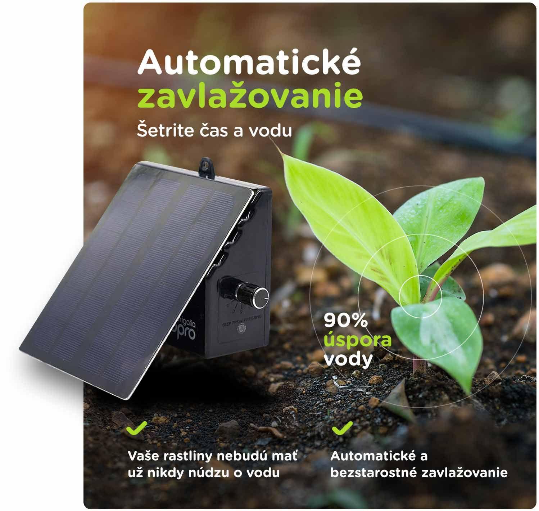 Solárne automatické zavlažovanie